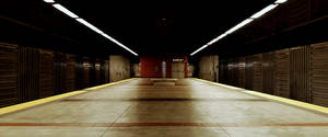 Quiet BART Station by 3vilCrayon