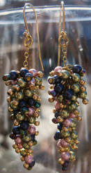 Colored Pearl Earrings by Joiajewels