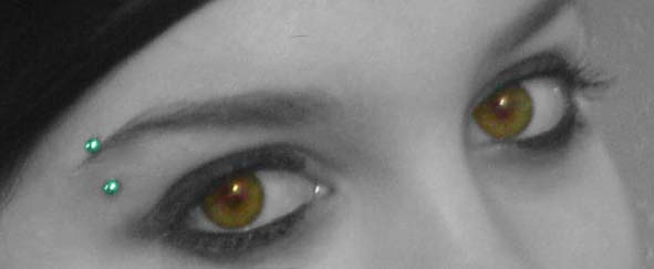 Eyebrow piercing by queenofpaper on DeviantArt