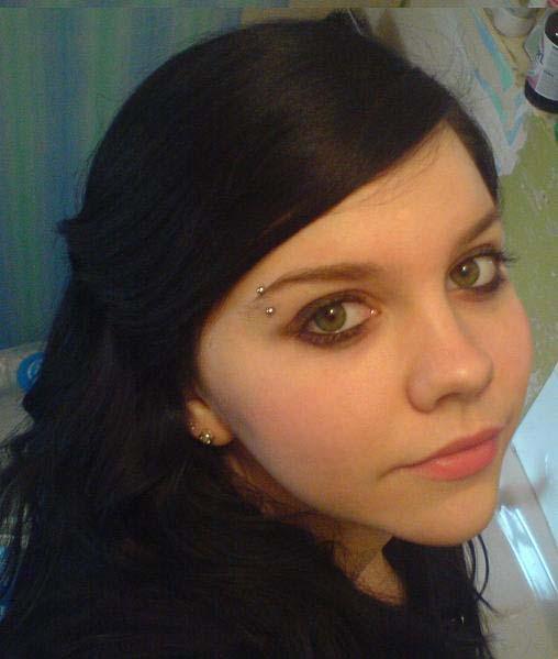 eyebrow piercing ring. Lip piercing, naval piercing,