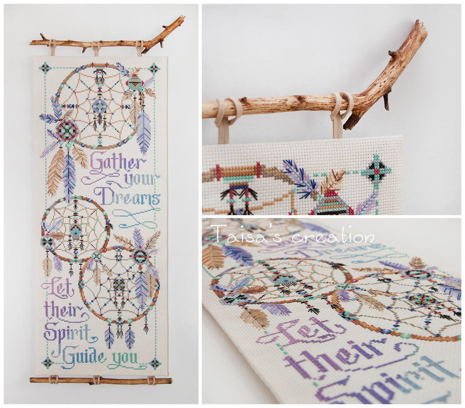 Cross-stitch ''Gather Your Dreams...'' by Taisa-Winged