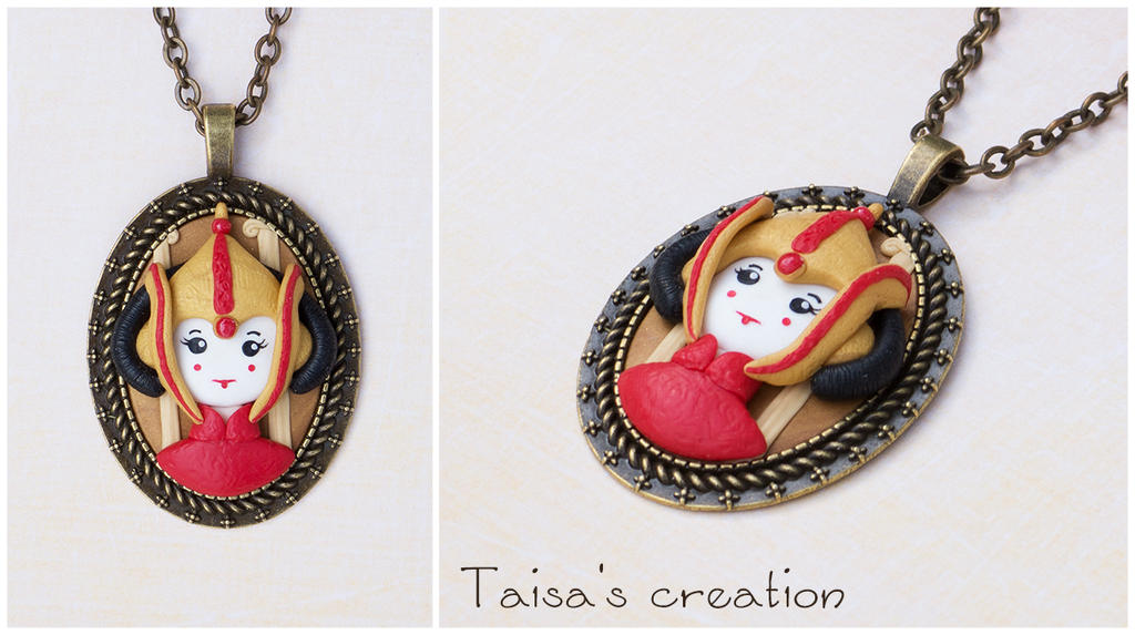 Padme Amidala Queen of Naboo Cameo Pendant by Taisa-Winged