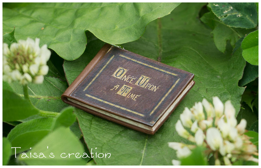 Tiny Book 'Once Upon a Time' Pendant by Taisa-Winged
