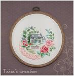 Cross-stitch ''Home''