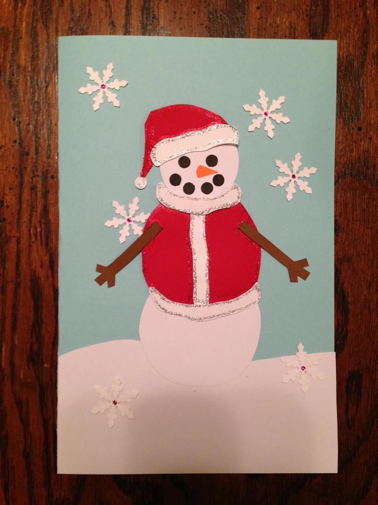 Santa Snowman Christmas Card by Vaalkaaren on DeviantArt