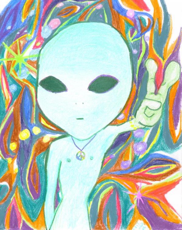 Trippy Alien By ChariotCraft On DeviantArt Iphone Wallpaper