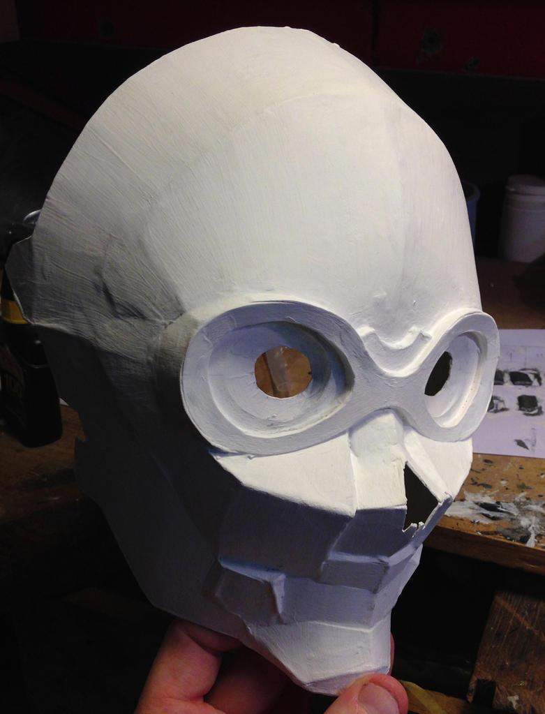 Death Gun mask WIP#1 by SkullSch00l