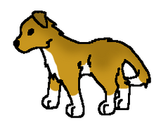 Walking Dog Coloured by CyndersAlmondEyes