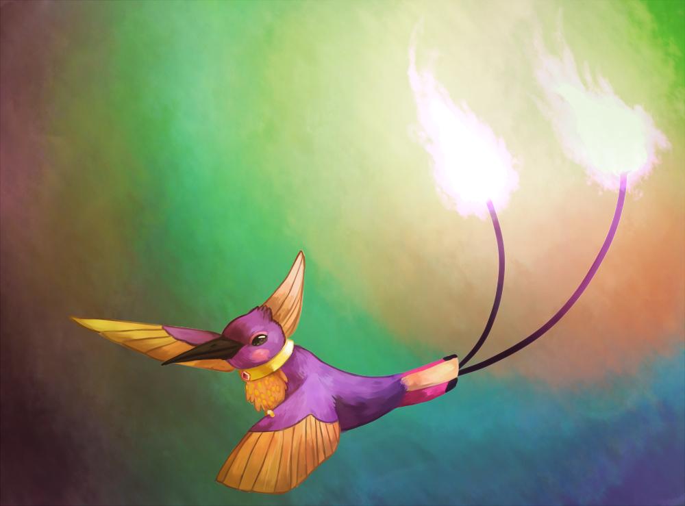 The Hummingbird Phoenix by CyndersAlmondEyes