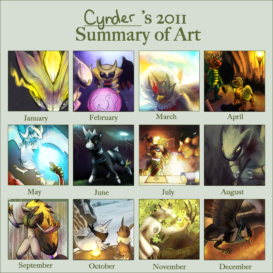 2012 Art Summary by CyndersAlmondEyes