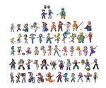 Trainers Sprites Sheet by 0BlackEmerald0