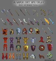 Armors and Weapons Concepts by rainerpetterart