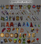 Armors, weapons and itens