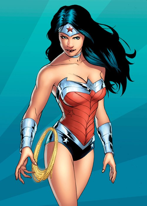 Wonder Woman DC New 52  trading card by rainerpetterart