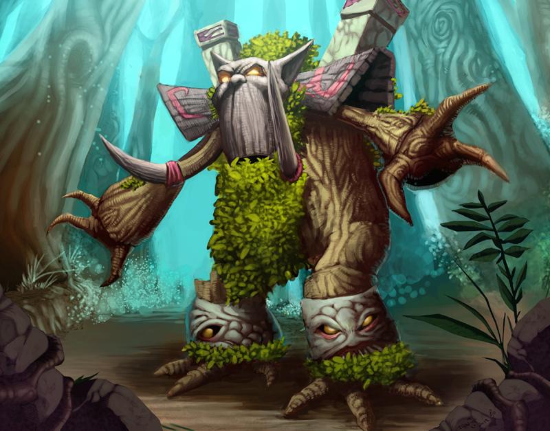 Mossbark, Ancient of war by rainerpetterart