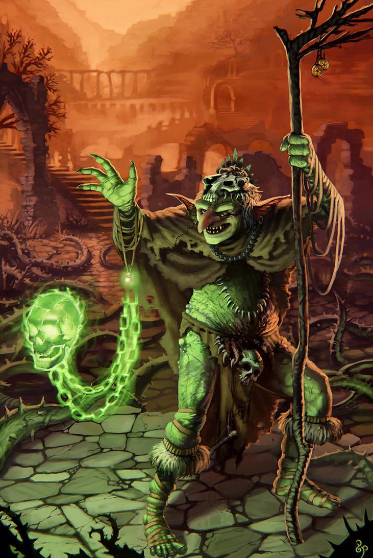 Goblin Shaman by rainerpetterart