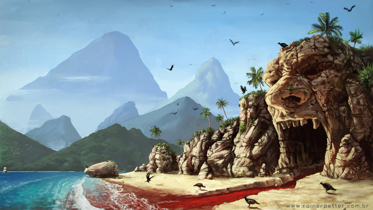Red beach by rainerpetterart