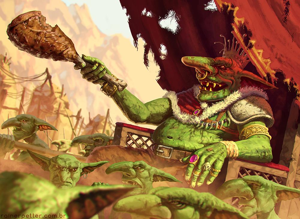 Goblin King by rainerpetterart