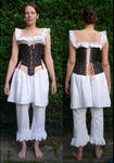 19th century corset by DeredereGalbraith