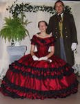 Victorian 1860 ball gown