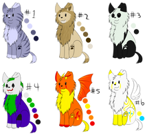 Adoptables #1 (OPEN) by Chykiora