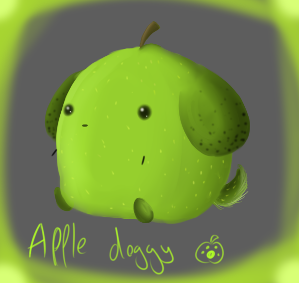 apple dog by shamoosh