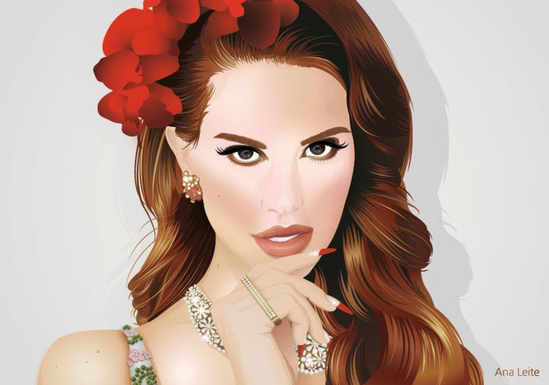 Lana del Rey Vector by bk-anya