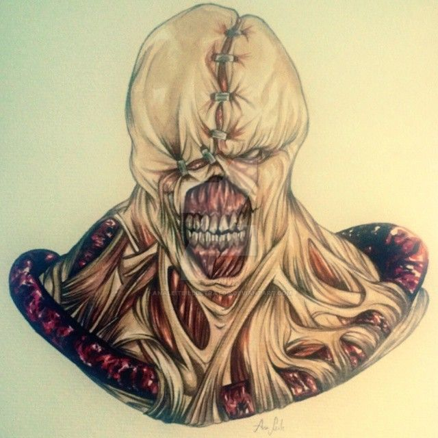 Nemesis in watercolor by analeiteillustrator