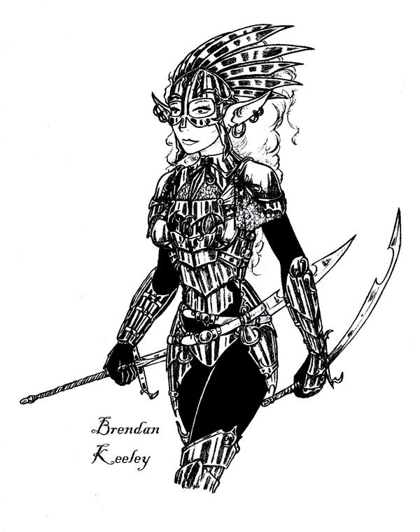 Elven Warrior Revisited by BrendanKeeley