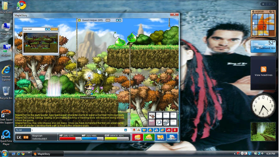 how to change your pic on maplestory
