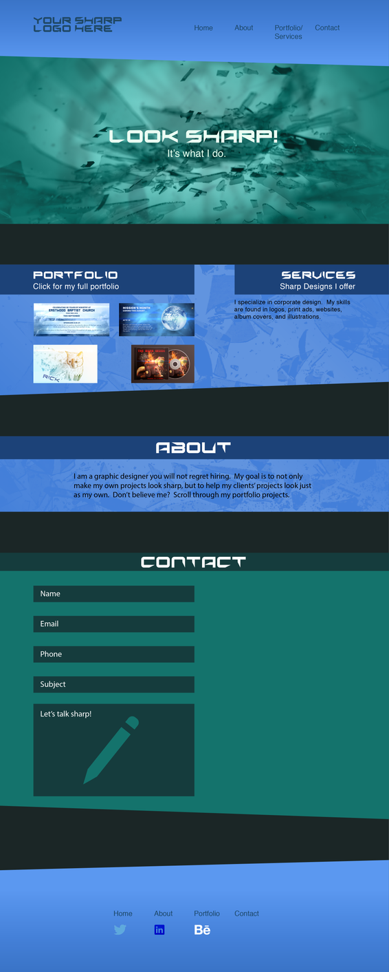 Long Scrolling Portfolio Website Template 3 By Devendesign On Deviantart