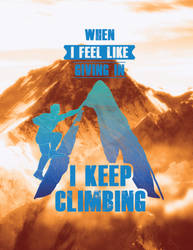 Climb the Mountain Poster Card by DevenDesign