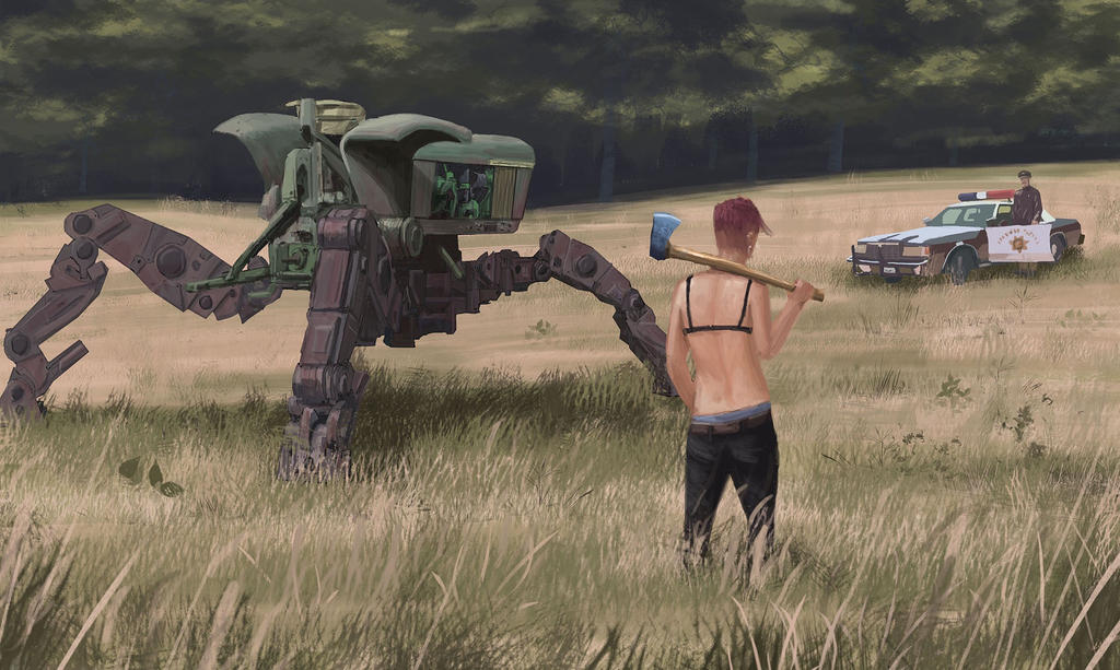 Rednecks with tractor mechs by tuco ramirez on deviantart - Mobles tuco ...
