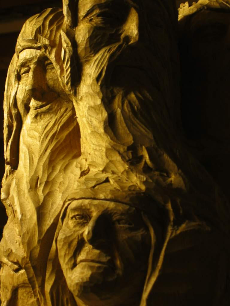 Faces by woodcarver