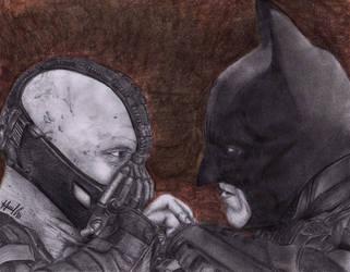 Batman and Bane by marvincastillo