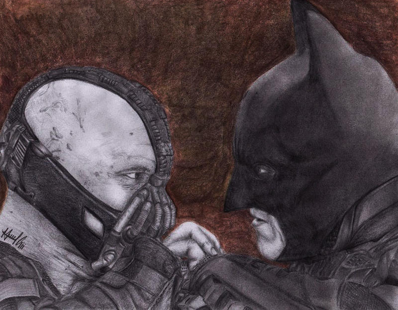 Batman and Bane by marvincastillo