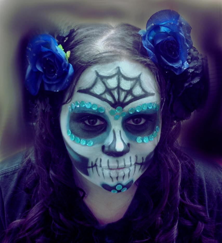 sugar skull makeup wallpaper - photo #15
