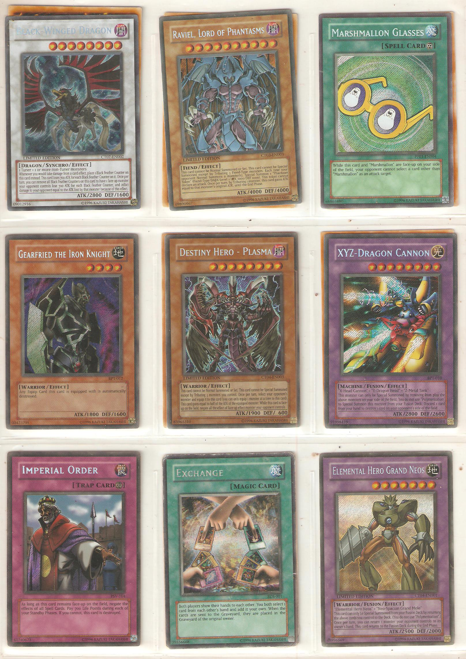 secret rare cards set 1 by DarkFoxProjectX