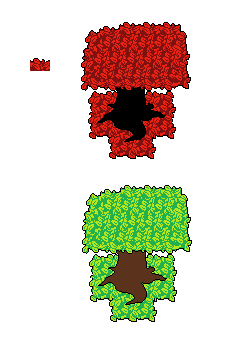 Undertale Ruins Tree with Leaves by FanFictionGamer on ...