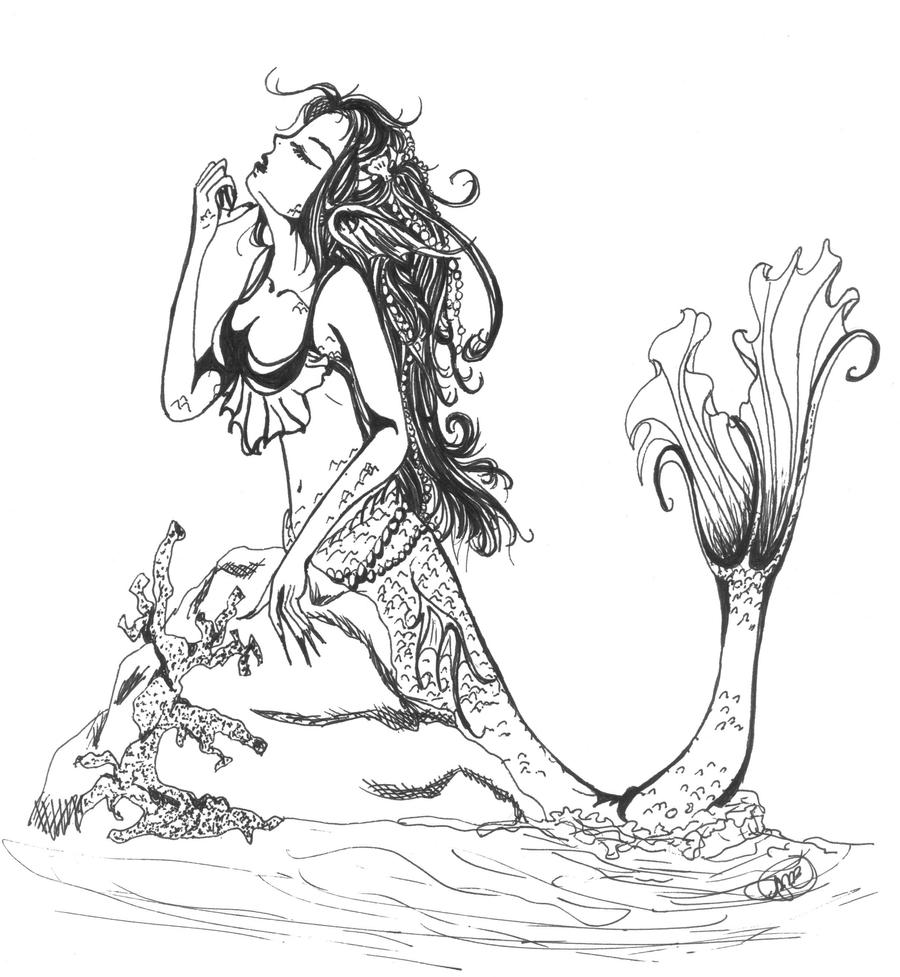 Fisch Fabius Ausmalbilder Arielle Die Meerjungfrau Anime Mermaid