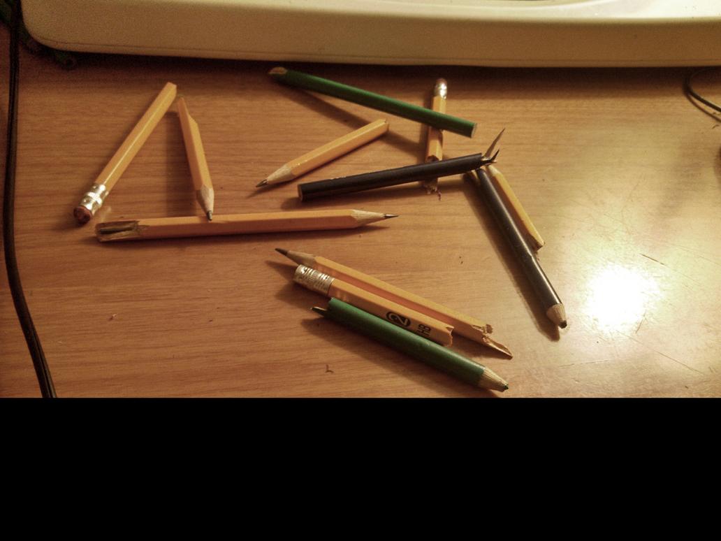 Broken Pencils by rossriders