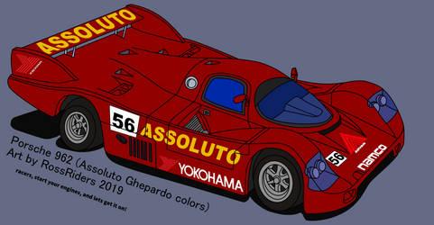 Porsche 962 Rage Racer Style