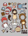 Dress up Mario T-shirt Design