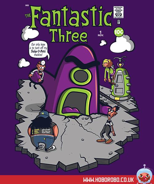 Fantastic Three T-shirt Design by alsnow