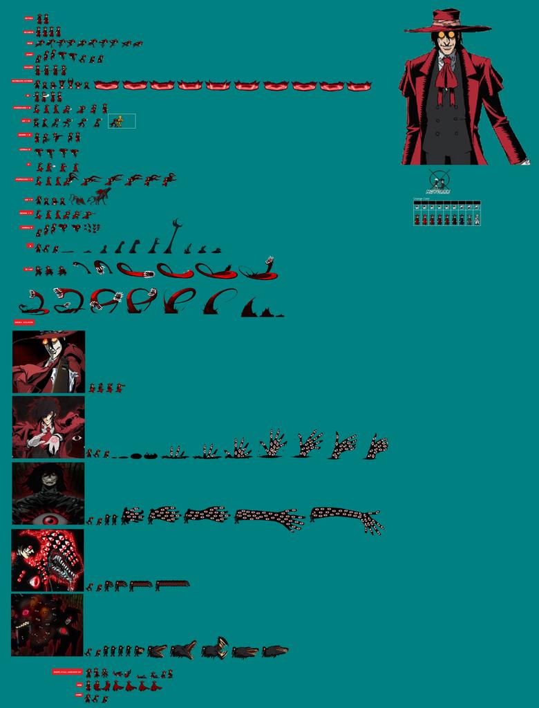 alucard sprite sheet