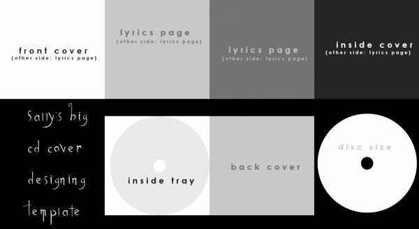 cd cover design template by zoeil on deviantart. Black Bedroom Furniture Sets. Home Design Ideas