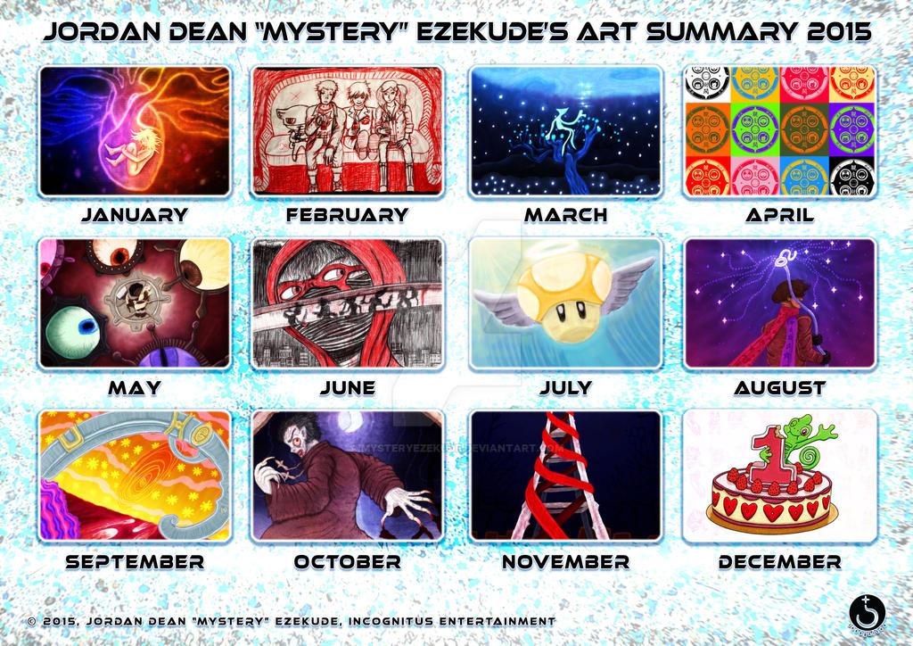Mystery Ezekude's Art Summary 2015 by MysteryEzekude