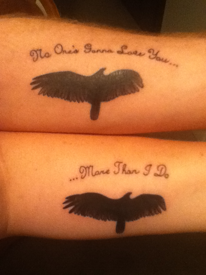 couples tattoo by tattoojunkie7 on DeviantArt Matching Love Tattoos For Husband And Wife