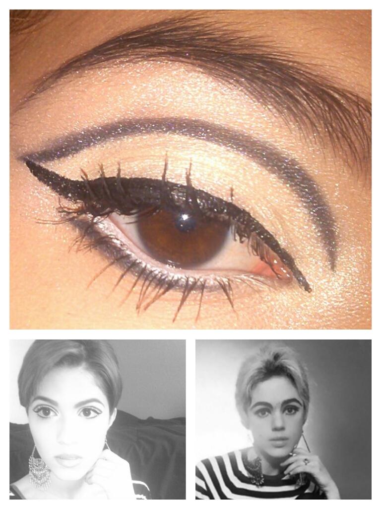 Edie sedgwick makeup