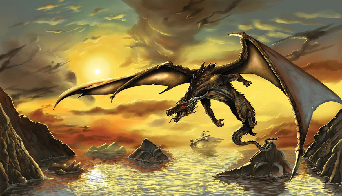 Dragon Flight by Sepiawolf